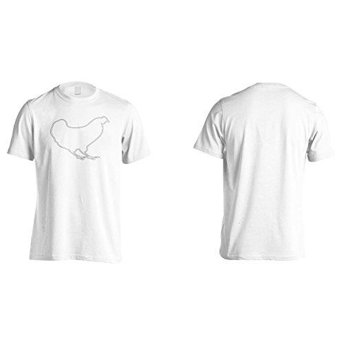Nuovo Chef Di Pollo Fresco Uomo T-shirt l764m White