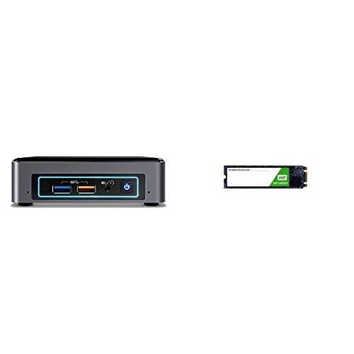 Intel NUC Barebone BOXNUC7I3BNK & WD Green SSD 120 GB, interne M.2 2280 Festplatte bis zu 545 MB/s Lesegeschwindigkeit; SSD (Solid State Drive) - SATA 6 Gbit/s (Intel Ssd 120gb)