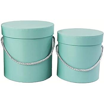 style limité véritable Lot de 3 boites décoratives rondes roses avec cordon rose ...