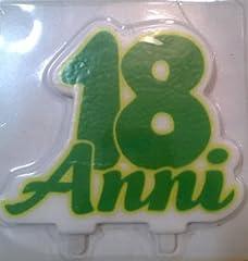 Idea Regalo - Big Party Candela Sagomata 18 Anni per Torte, Colore Verde, 13 x 13 cm 73137