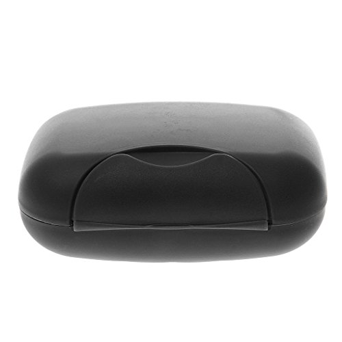 1pcs Plastic Soap Case Box Holder Dish Container for Outdoor Travel Home Use - Black