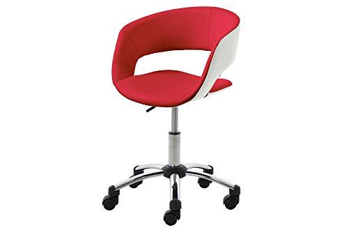ac-design-furniture-0000057020-burostuhl-jack-sitz-lederlook-rot-pu-ruckenteil-weiss-pu-gestell-chro