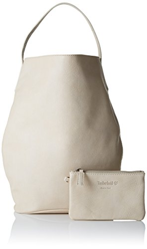 Timberland TB0M5143, Borsa a Mano Donna Bianco Sporco (Wind Chime)