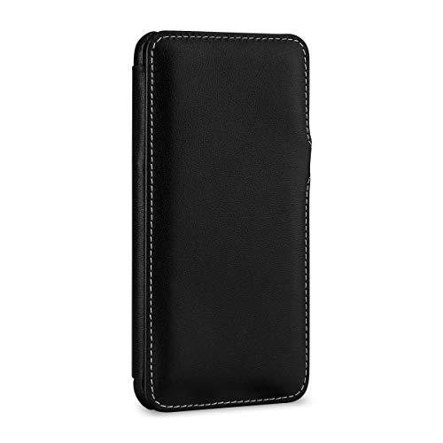 StilGut Schutz-Hülle kompatibel mit iPhone XS Max Book Type aus Echtleder, schwarz Nappa mit Clip