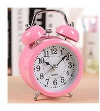Cartoon Petit horloge réveil Horloge Bell Bell 115 * 75 * 50mm , pink