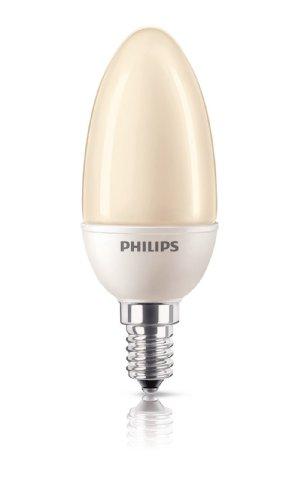 Energiesparlampe Softone ES Flame Terracotta Kerze 5 Watt E14 822 - Philips
