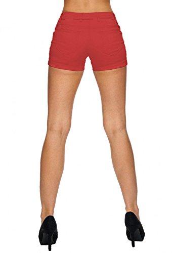 Short Femmes Chino avec ceinture MIRABELLE Nr.1527 Rouge