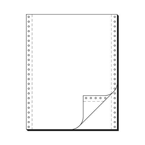SCHÄFER SHOP Computer Endlospapier, DIN A4, 2-fach blanko, selbstdurchschreibend, Längsperforation, beidseitiger Führungslochrand, 1000 Blatt