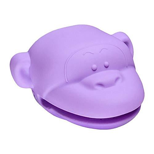 Duankeke Hitzebeständige Silikon-Minibackofens Handschuhe for Küche Kochen Backen Pan-Halter Handschuhe Küchenzubehör (Color : Purple)