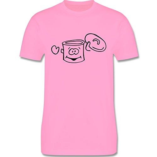 Küche - Kochtopf - Herren Premium T-Shirt Rosa