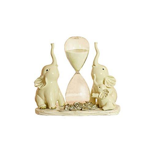 Escultura de resina Resina Tres elefantes El reloj de arena Temporizador Escultura...