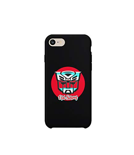 ers Autobot Old School Retro Logo_R5145 Protective Case Cover Hard Plastic Compatible with for iPhone 7 Funny Gift Christmas Birthday Novelty ()