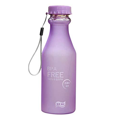 Bobopai 550ML Leakproof Sport Water Bottle Portable Outdoor Travel Healthy Drinking Cup - Purple Crystal Goblet Set