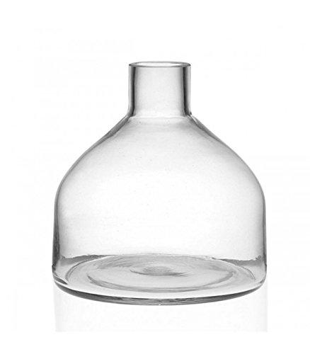 WADIGA 1 Vase Verre Transparent - Hauteur 19.5cm