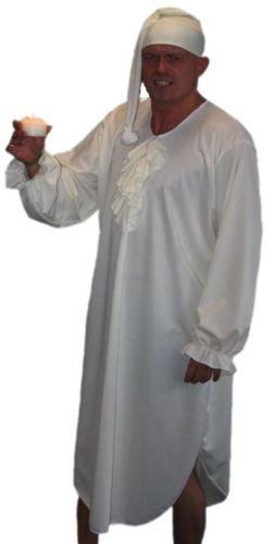 Scrooge Ebeneezer Charles Dickens Christmas Carol Nachthemd, bis Erwachsene Cap L-XL 121.92 cm (Halloween Christmas Kostüme Carol)