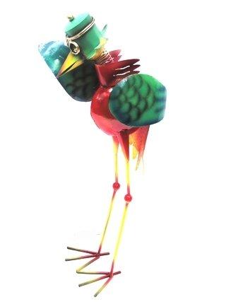 Unbekannt Gartenfigur Gartenskulptur Vogel Gartendeko Metall