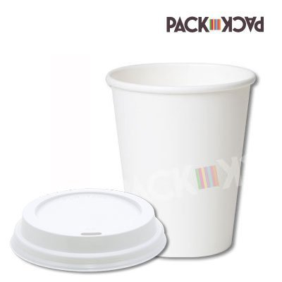 50 x 12oz White Single Wall paper Cup with White