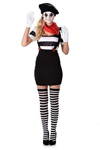 Karnival 81121Mime Mädchen Kostüm, Frauen, Multi, extra -