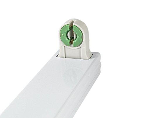 Supporto Porta neon per neon led senza starter ne reattore attacco diretto alla 220 volt diverse misure (60 cm)