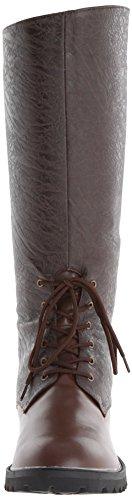 Gotham funtasma - 103 lacets bottes style steampunk simili cuir marron pour femme s-xL Brown Pu-Brown Distressed Pu