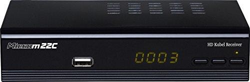 Microelectronic Micro m22c Full HD DVB-C Kabelreceiver (HDMI/SCART/USB/LAN (RJ45), PVR Ready, Mediaplayer) schwarz