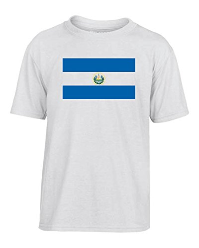 T-Shirtshock - T-shirt Kinder TM0186 El Salvador flag, Größe 9-11jahre (El Salvador Flag Tshirt)