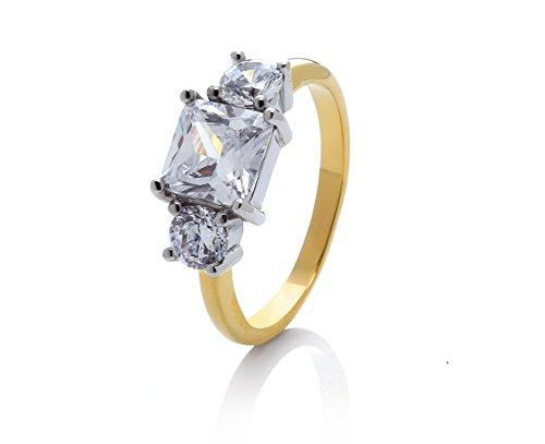 prettique Ring Meghan - silber/vergoldet - Verlobungsring bekannt von BUNTE.de
