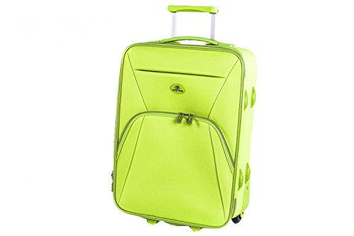Valigia trolley semirigido SWISH JEANS verde mini bagaglio ryanair S68