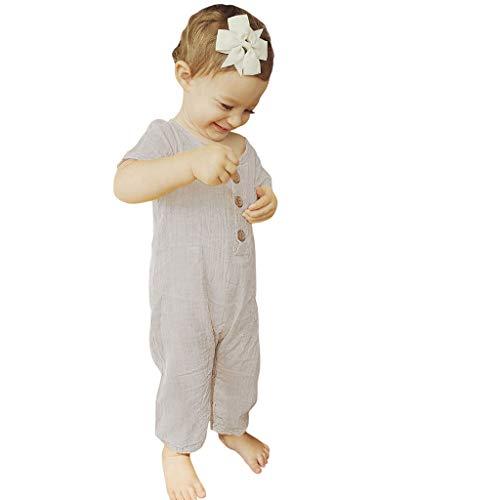 Unisex Kinderbekleidung,ODRD Clearance Sale Sommer-Säuglingsbaby-Jungen Mädchen-Kurzschluss-Hülsen-Rüschen-feste Spielanzug-Overall-Kleidung Kinder Kleinkind Kleidung Body Babyschlafsack Sommer (Kleidung Sommer Clearance Jungen)