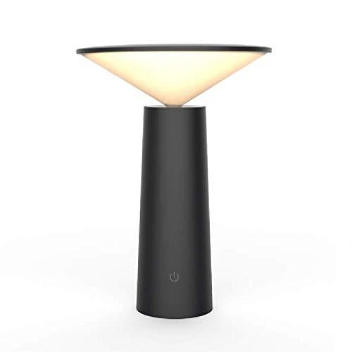 Qiaobaba Kreative Dekoration Lesen Nachtrucht Dormitory Learning Eye-Schutz Led Lamp Touch USB Charging Night Light,Black