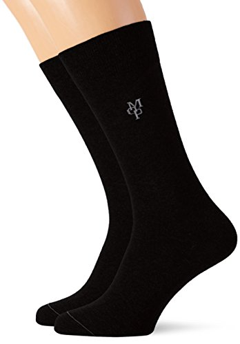 Marc O'Polo Body & Beach Herren Socken SOCKS MEN (2, 2er Pack, Gr. 43/46 (Herstellergröße: 406), Schwarz (schwarz 000)