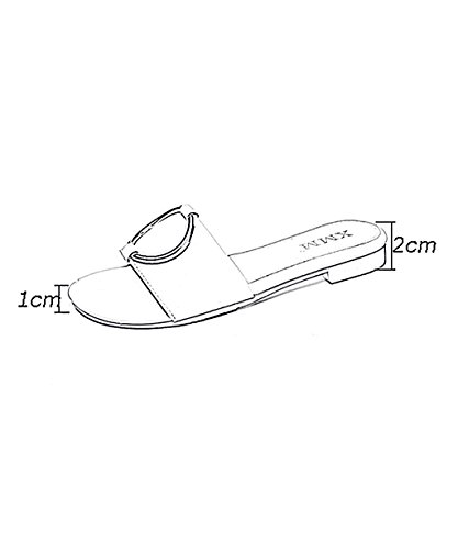 CHAOXIANG Pantofole Da Donna Antiscivolo Ciabatte Piatte Sandali Da Surf Nuova Estate Ciabatte Spiaggia ( Colore : Marrone , dimensioni : EU37.5/UK4.5/CN38 ) Marrone