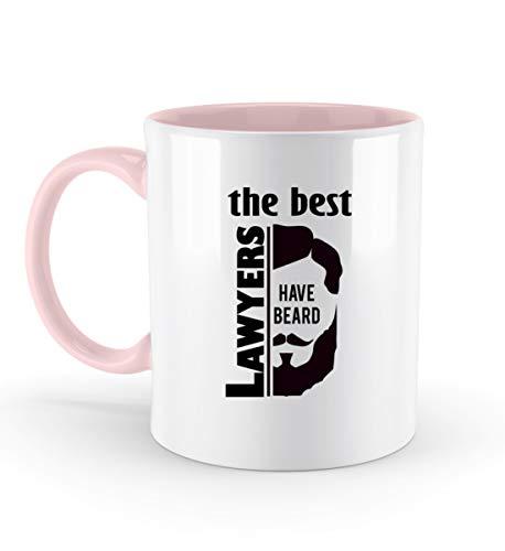 The Best Lawyers Have Beard - for stylische Anwälte - Zweifarbige Tasse -330ml-Puder Rosa