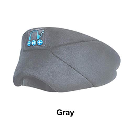 azurely Bluetooth-Schlafaugenmaske Mit Kopfhörern, Drahtlose Bluetooth-Schlafkopfhörer Freisprech-Musikaugenblenden Eingebautes Mikrofon Für Travellng-Grau , Schwarz