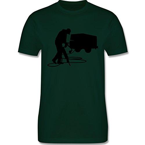 Handwerk - Bauarbeiter - Herren Premium T-Shirt Dunkelgrün