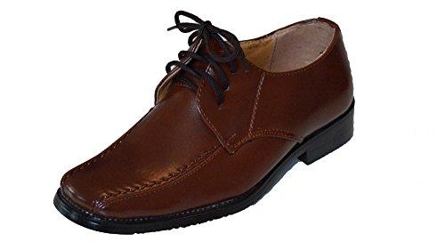 familientrends , Chaussures de ville à lacets pour garçon Marron - Marron