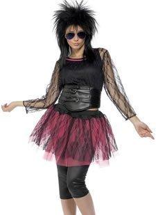 Smiffy's - Disfraz de años 80s retro para mujer, talla UK 16-18 (31018L)