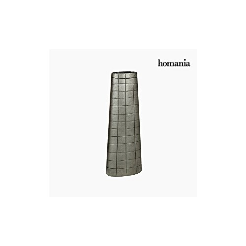 Vase Céramique Argent (19 x 10 x 51 cm) by Homania