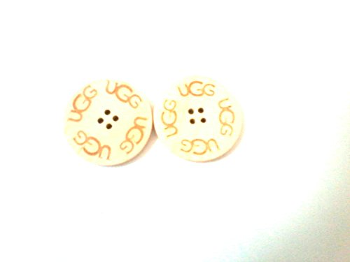 2-x-wooden-ugg-buttons-spare-replacement-for-ugg-boots-natural