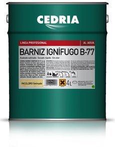 Barniz Ignífugo B-77 Cedria protector fuego madera 20 litros