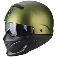 6e3ef44f02273 Scorpion Jet Casco Exo de Combat Solid Verde Mate motocicleta casco modular  con extraíble barbilla notebook