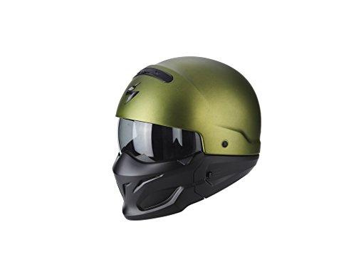 Scorpion Jet Casco Exo Combat Solid Verde Mate motocicleta