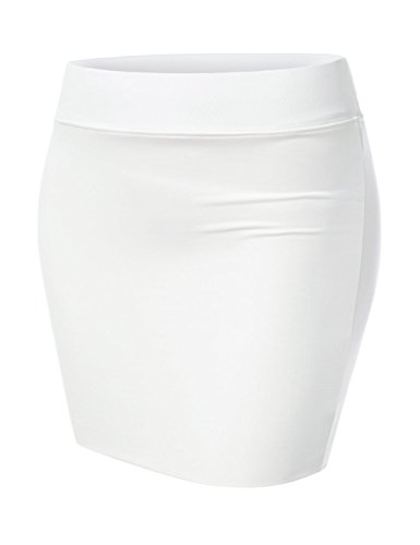 Nearkin Woman Fitted Elastic Layered Mini Short Skirt
