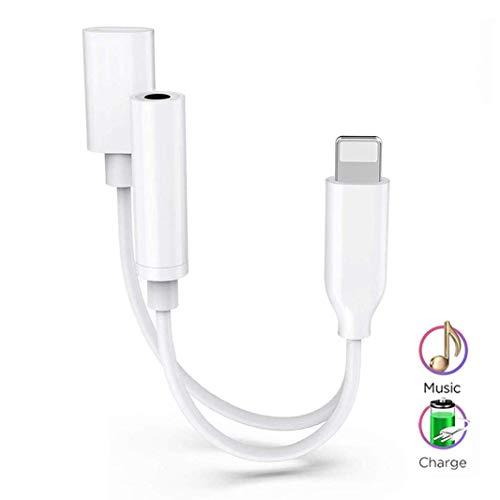 Adaptador Conector 2 1 iPhone 7 Aux Audio 3,5 mm Cables
