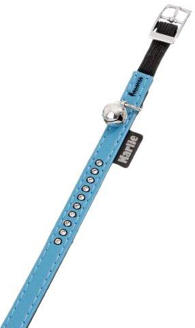 Karlie Art Leather Plus, Katzenhalsband Mount Carlo, 11 mm 30 cm, hellblau