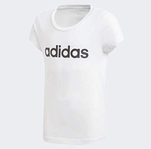 adidas Mädchen Essentials Linear Tights L Black/Real Magenta