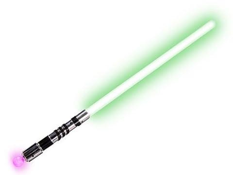 'Bâton épée lumineux, belle finition Longueur environ 70 cm en plastique avec pointe arrondis et par la suite pas de risque d''accidents pour les enfants., choisir la couleur:LS-08 vert'