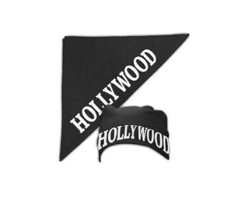 Hulkamania Hollywood Schwarz Bandana (Hollywood Hogan Kostüm)