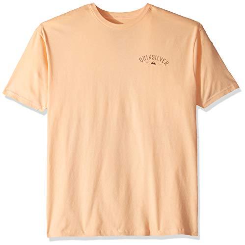 Quiksilver Herren Burnt FIN Tee T-Shirt, Peach Fuzz, Groß - Hot Fuzz-t-shirt