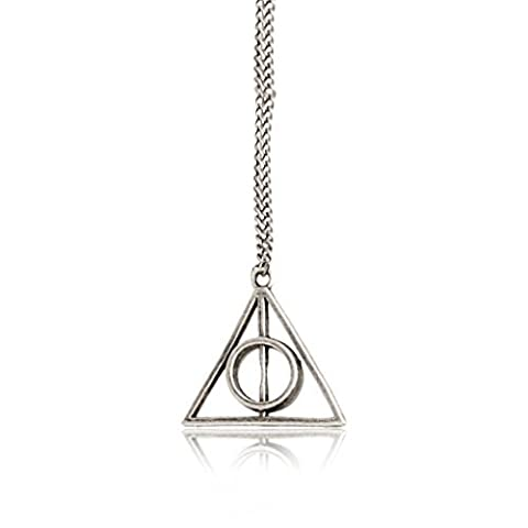 Pendant Necklace Gifts Triangle Of Death Deathly Hallows Tone Cosplay Silver